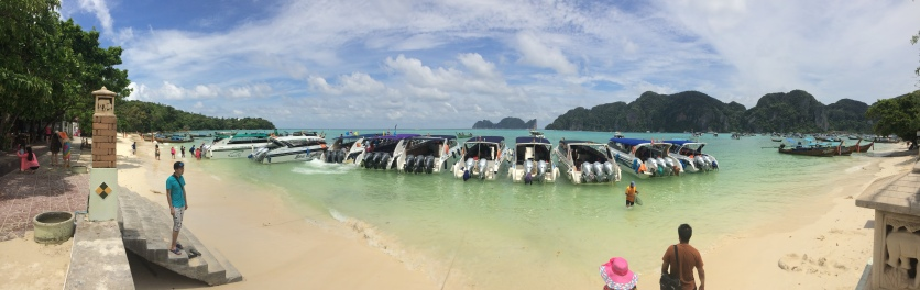Panaroma at the Phi Phi Islands